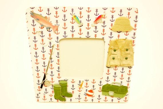 fishing frame outdoors themed frame fishing theme fishing   Etsy