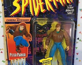Marvel superhero 1:24 Scale Figure Peter Parker tin 75mm Spider-Man