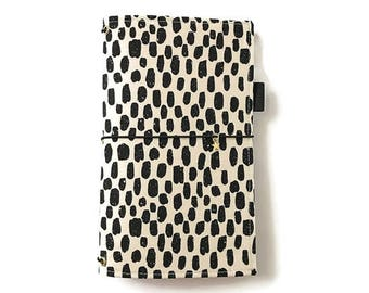 Black White REGULAR Fauxdori Bullet Journal Cover Journal Cover Refillable Planner Traveler's Notebook Refillable Notebook GREER