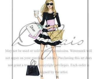 Custom Sketch, Custom Fashion Illustration, custom portrait, custom illustration, fashion illustration, commercial fashion illustration