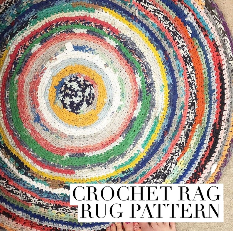 Round Crochet Rag Rug Pattern With Instructions For Making Etsy