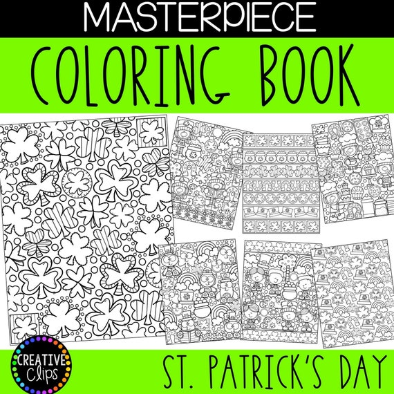 St. Patrick's Day Masterpiece Printable Coloring Pages