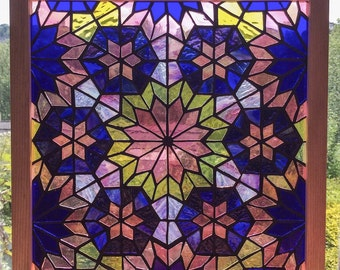 Six Stars - original stained glass mosaic