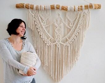 Macrame Wall Hanging  - Macrame Patterns - Macrame Wall Art - Wall Tapestry - Macrame Backdrop - Macrame Wedding Backdrop -
