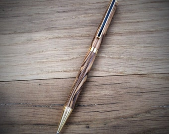 Wooden Pens from Bethlehem Olivewood with 24kt Gold Plate