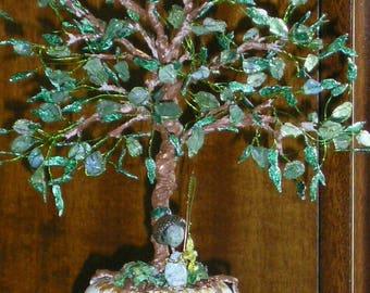 """Art Tree Wire Sculpture """"Luck"""" Handmade"""