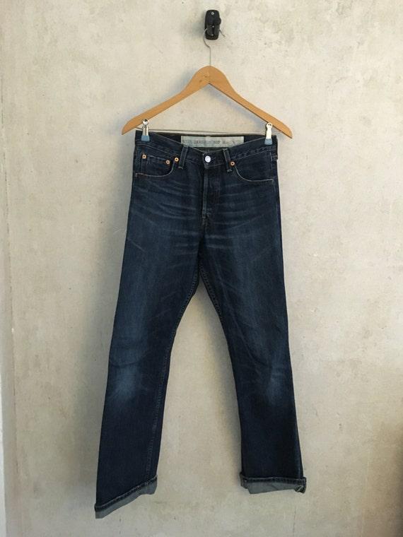 Levi Strauss Levi's Jeans 501 W28 L32 LTD Edition Rockabilly Hepcat Cowboy Turnup Retro Vintage SuKLBdt0bU