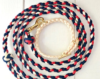 Any color Small Dog Leash and Collar Set