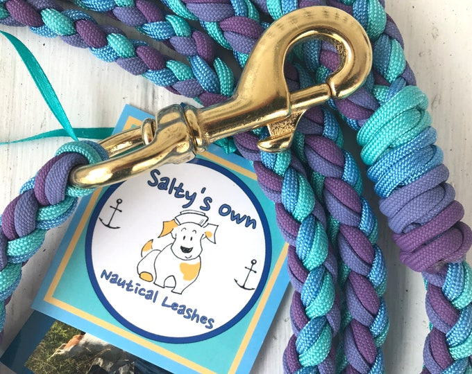 """Featured listing image: Paracord Leash """"Blueberries"""""""