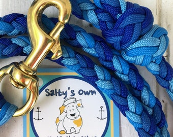 Deep Ocean Paracord dog leash