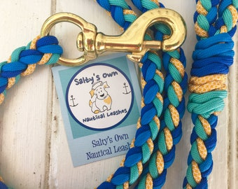 "Paracord Leash-""Martha'sVineyard"""