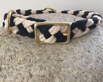 Black and Cream Standard Collar