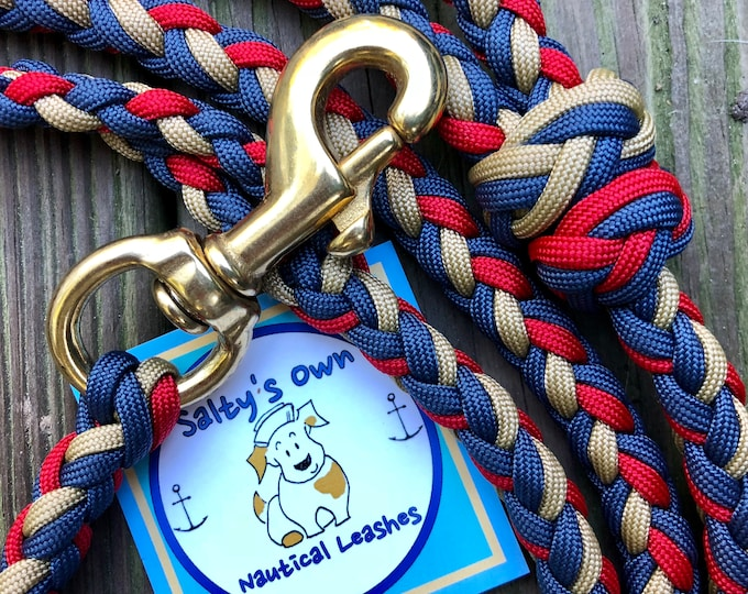 """Featured listing image: Paracord leash """"Favorite Blanket"""""""