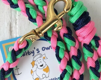 "Small Deluxe Leash ""Hamptons"""