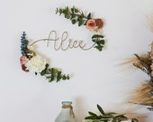 Birth Flower Wire Name Signs