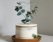 Eucalyptus Wire Wedding Cake Topper