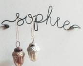 Wire Name Earring Holder, Jewellery Gift