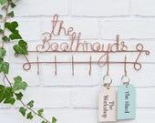 Family name key holder, Key Hooks, Home Decor