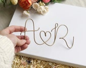 Couple's Initials Wire Sign Keepsake