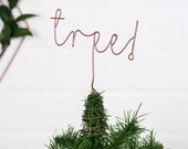 Christmas tree topper, word tree topper