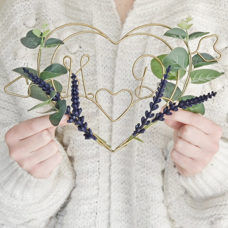 Dark Lavender and Eucalyptus Heart Wreath