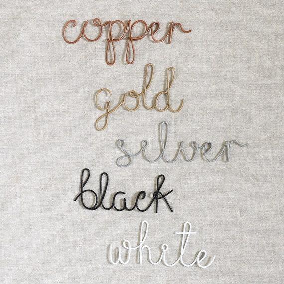 Zu Hause Dekor Kupfer Dekor Kupfer-Buchstaben Draht Brief | Etsy