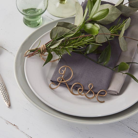 Kupfer Gedeck Namen Hochzeit Gefälligkeiten Kupfer Tisch   Etsy
