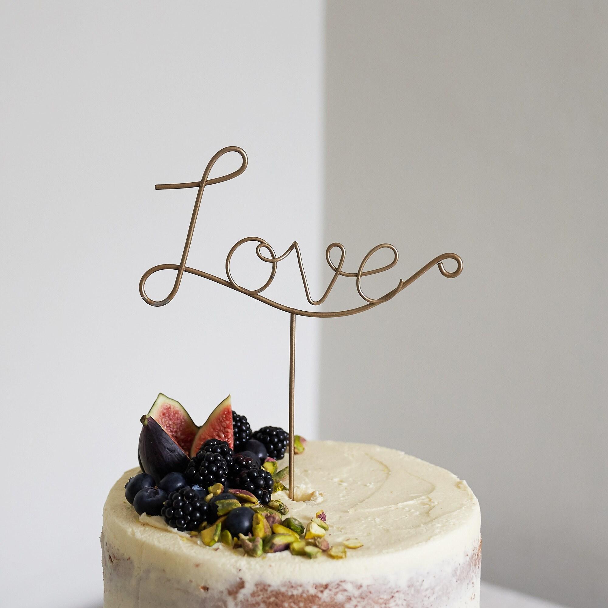 Love Wedding Cake Topper Love wire cake topper Wire Cake