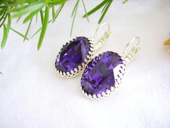 gift idea Set Stud Earrings Adjustable ring women whimsical jewelry Rhinestones green glass cabochon flower silver