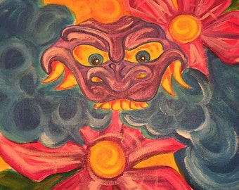 Acrylic Mask Painting