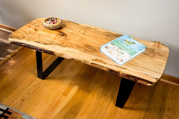 Groovy Natural Edge Live Edge Ambrosia Maple Coffee Table Bralicious Painted Fabric Chair Ideas Braliciousco