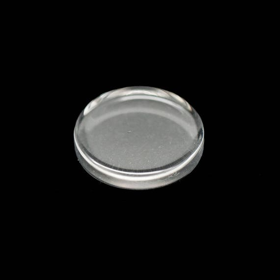 20x 16mm Circular Round Clear Flat Glass Cabochons