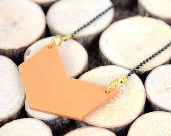 Arrow Polymer Clay Necklace / Pendant Necklace / Geometric Necklace / Minimal Necklace / Ball Chain Necklace / Polymer Clay