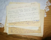 30 Old Handwritten Recipes on cards scrap paper