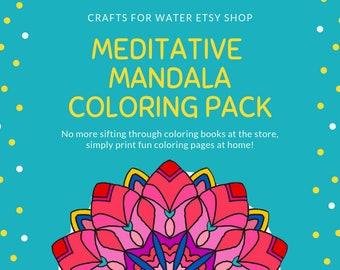 Meditation Mandala Design Coloring Pages Printable