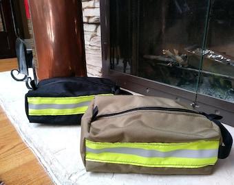 Bunker Gear Style Toiletry Bag - Perfect Firefighter Gift - Men's Toiletry Bag - Shaving bag