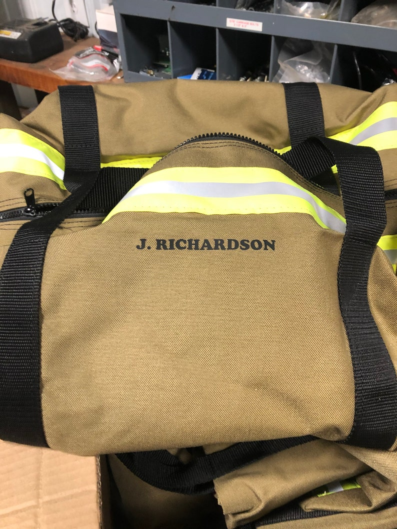 Firefighter Bag Firefighter Gift Bunker Gear Style Gear Bag  Over Night Bag