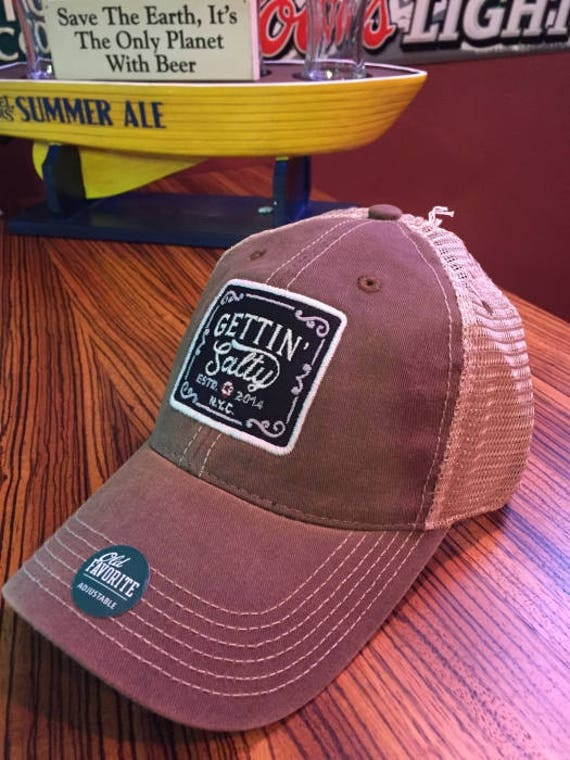 Old Favorite Brown Trucker Hat Firefighter Hat Perfect  f8e44071411