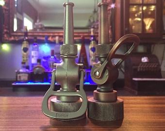 Firefighter Gift-Historic Bottle Opener Antique Fire Hose Nozzle -Firefighter Barware-Firefighter Wedding Gift