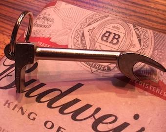 Chrome Halligan Bottle Opener Key Chain-Firefighter Gift-Fire fighter Wedding Gift