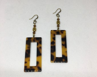 Tortoise Focal Earrings