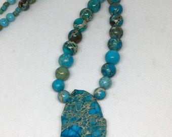 Turquoise & Jasper Necklace