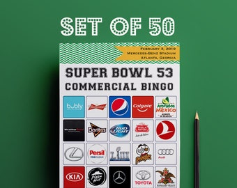 photo about Printable Super Bowl Bingo Cards called 2019 Tremendous BOWL Bash Activity Established Printable // Professional Bingo