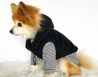 Dog fleece sweater vest, dog sleeveless coat, puppy clothes, pet hoodies, small dogs outerwear, luxury dog jacket, puppy hoodie, dog sweater