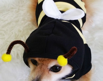 Bumble Bee Costume, XS~4XL Size, Handmade Dog halloween costume, dog hoodie,dog clothes, small dogs clothes,puppy costumes,Dog hoodies