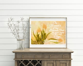 """tulip wall art Mother's Day photo gold Yellow tulip print spring tulip photo art photograph """"God's Gift"""""""