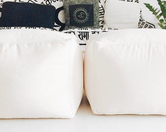 Pouf ottoman without filling,  Pouf, Pouf ottoman, Puff, Ottoman, Ottoman pouf, Poufs, Floor pouf, Fabric pouf, Pouff, Floor pouf - SQUARE