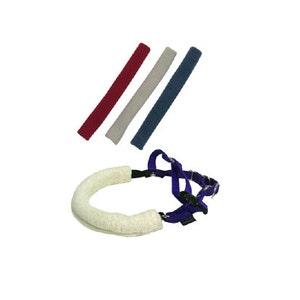 Dog Harness Padding Cover Pink Gray Triangle Pattern 1.75 Inch Width Harness Huggies Soft Fleece Fabric Dog Harness Padding Cover