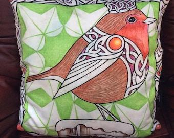 Christmas Robin Cushion Cover