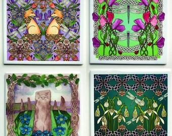Highland Celtic Art Ceramic Tiles